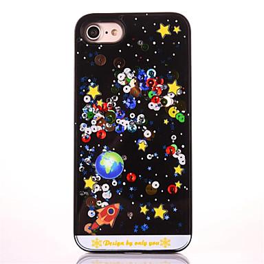 Varten Paljetti Kuvio Etui Takakuori Etui Piirros Kova PC varten Apple iPhone 7 Plus iPhone 7 iPhone 6s Plus/6 Plus iPhone 6s/6