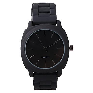 Erkek Moda Saat Quartz / Silikon Bant Günlük Siyah