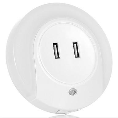 ذكي التحكم في الإضاءة أدى تأثيث المنزل المزدوج شاحن USB السرير شمعة