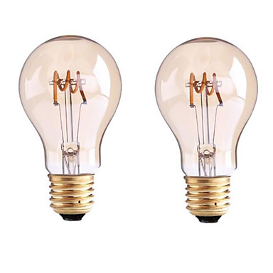 1szt 3.5W 400lm E26 / E27 B22 Żarówka dekoracyjna LED G60 1 Koraliki LED COB Przysłonięcia Ciepła biel 110-130V 220-240V