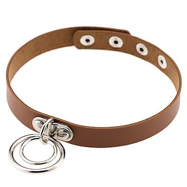 Naszyjniki choker Biżuteria Circle Shape Biżuteria Skórzany Stop Spersonalizowane Modny euroamerykańskiej List Europejski Biżuteria Na