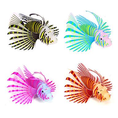수족관 장식 모형 물고기 야광 실리콘