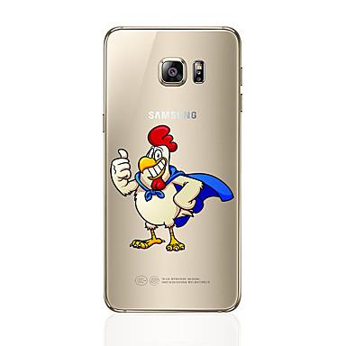 Pouzdro Uyumluluk Samsung Galaxy S7 edge S7 Temalı Arka Kılıf Karton Yumuşak TPU için S7 edge S7 S6 edge plus S6 edge S6 S5 S4