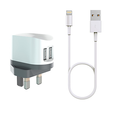 Kannettava laturi Puhelin USB-laturi US-pistoke EU-pistoke UK-pistoke AU-pistoke Laturisetti Monta porttia 2 USB-portti 3.4 a iPadille