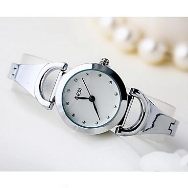 Bayanların Moda Saat Quartz Su Resisdansı Alaşım Bant Havalı Günlük Gümüş Simli / Beyaz Siyah/Gümüş