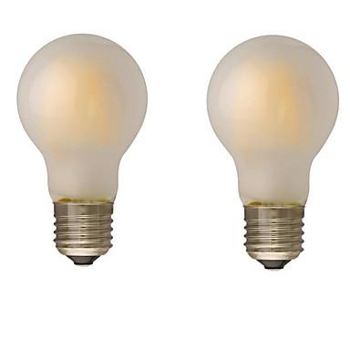 2pcs 4W 400 lm B22 E26/E27 LED-hehkulamput G60 4 ledit COB Himmennettävissä Lämmin valkoinen 2700-3500K AC 220-240 AC 110-130V