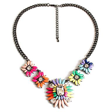Kadın Uçlu Kolyeler Mücevher Mücevher Değerli Taş alaşım Sallantılı Stil Moda Çok güzel Kişiselleştirilmiş lüks mücevher Avrupa Gökküşağı