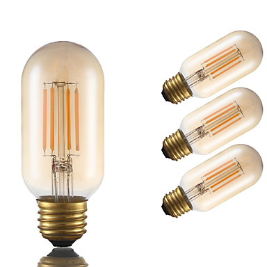 GMY® 4pcs 3,5W 300 lm E26 LED Λάμπες Πυράκτωσης T 4 leds COB Με ροοστάτη Διακοσμητικό Κεχριμπάρι 2200 κ AC 110-130 V