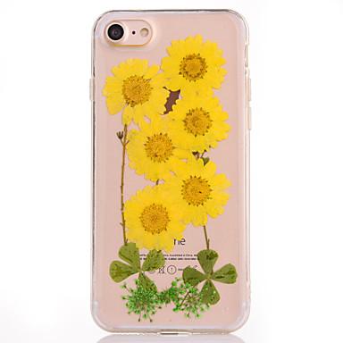 من أجل أغط / كفرات IMD مطرز نموذج غطاء خلفي غطاء زهور ناعم TPU إلى Apple فون 7 زائد فون 7 iPhone 6s Plus iPhone 6 Plus iPhone 6s أيفون 6
