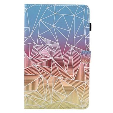 Na Etui Pokrowce Etui na karty Z podpórką Flip Futerał Kılıf Geometryczny wzór Twarde Sztuczna skóra na Apple iPad Air 2 iPad Air