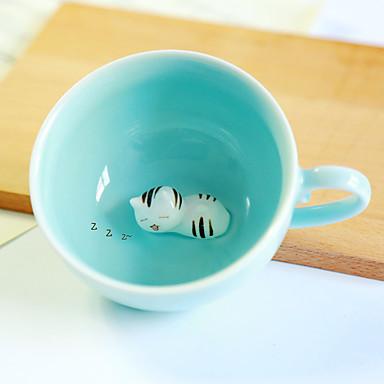 cartoon Szklanka 200 ml 3d meow ~ ceramiczny kubek kawy soku wtaer