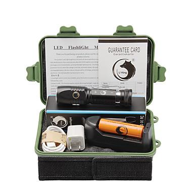U'King Latarki LED LED 2000 lm 3 1 Tryb Cree XM-L T6 z baterią i ładowarką Regulacja promienia Akumulator Zatrzask