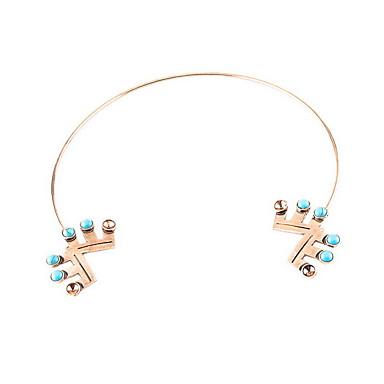 Naszyjniki choker Naszyjniki z wisiorkami Oświadczenie Naszyjniki Geometric Shape Biżuteria Żywica Stop Spersonalizowane Vintage