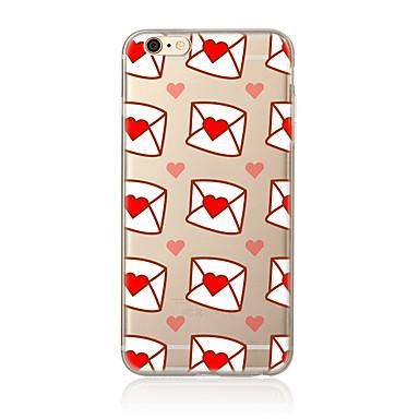 Için Şeffaf Temalı Pouzdro Arka Kılıf Pouzdro Kalp Yumuşak TPU için AppleiPhone 7 Plus iPhone 7 iPhone 6s Plus/6 Plus iPhone 6s/6 iPhone