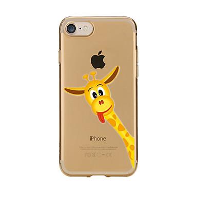 Kılıf Na Apple iPhone 7 Plus iPhone 7 Przezroczyste Wzór Czarne etui Zwierzę Miękkie TPU na iPhone 7 Plus iPhone 7 iPhone 6s Plus iPhone