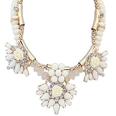 Lux Euramerican Modă Cute Stil European Coliere cu Pandativ Teracotă Ștras Hârtie Reciclabilă Diamante Artificiale Aliaj Coliere cu