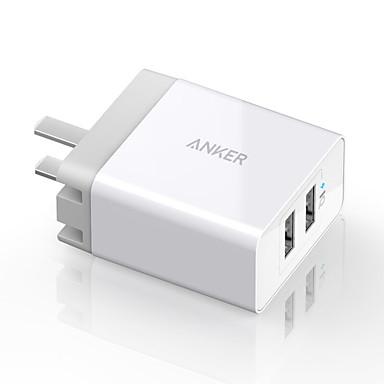 Φορητός φορτιστής Φορτιστής USB τηλεφώνου Βύσμα ΗΠΑ Γρήγορη φόρτιση Πολλαπλές θύρες 2 θύρες USB 4.8A 2.4A AC 100V-240V