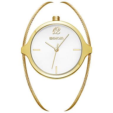 Kadın's Moda Saat Quartz Alaşım Bant Beyaz Altın Rengi