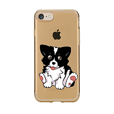 Case For Apple iPhone 7 Plus iPhone 7 Transparent Pattern Back Cover Dog Soft TPU for iPhone 7 Plus iPhone 7 iPhone 6s Plus iPhone 6s