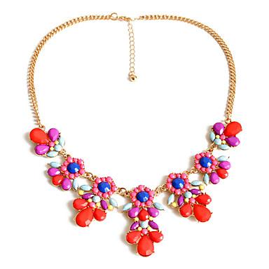 Kadın Zincir Kolyeler Mücevher Mücevher Değerli Taş alaşım Sallantılı Stil Kişiselleştirilmiş Euramerican Moda lüks mücevher Avrupa