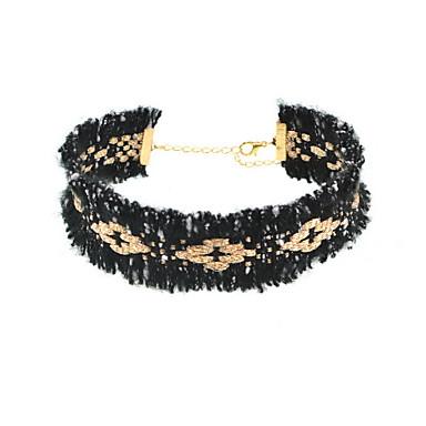 Γυναικεία Κολιέ Τσόκερ Κολιέ Δήλωση Κοσμήματα Κοσμήματα Ύφασμα Εξατομικευόμενο Ευρωπαϊκό Μοντέρνα Euramerican Κοσμήματα με στυλ Κοσμήματα