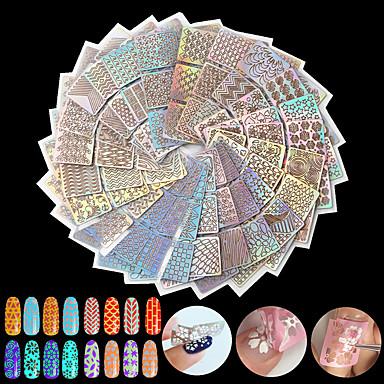24pcs Diecut Manicure Stencil Szablon tłoczenia paznokci Codzienny Modny Wysoka jakość