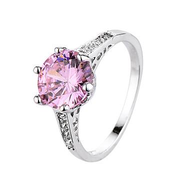 Pierscionek Cyrkon Cyrkonia Stal Modny Black Rose Pink Biżuteria Codzienny 1szt