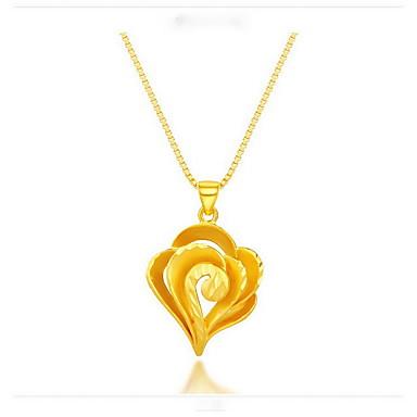 Κρεμαστά Κολιέ Κοσμήματα Χρυσό Επιχρυσωμένο 18K χρυσό Κρεμαστό Love Φλοράλ Μοντέρνα Κοσμήματα Για Καθημερινά Causal Αθλητικά