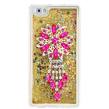 Για Στρας Ρέον υγρό Διαφανής Φτιάξτο Μόνος Σου tok Πίσω Κάλυμμα tok Λουλούδι Μαλακή TPU για Huawei Huawei P9 Lite Huawei P8 Lite