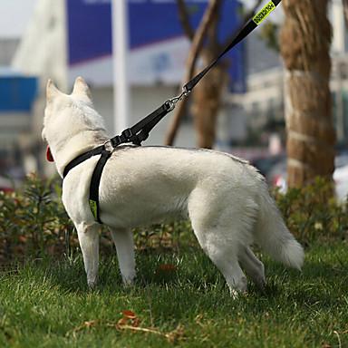 Pisici Câine Hamuri Ajustabile / Retractabil Siguranță Antrenament Polițist/Militar Piele autentică Negru
