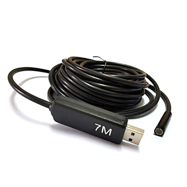 7m USB κάμερα ενδοσκόπιο φακό 7 χιλιοστά borescope φίδι 6 οδήγησε αδιάβροχο ελέγχου για pc