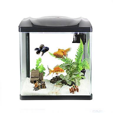 Mała akwaria Tła Srebrzysty Oszczędność energii Plastikowy