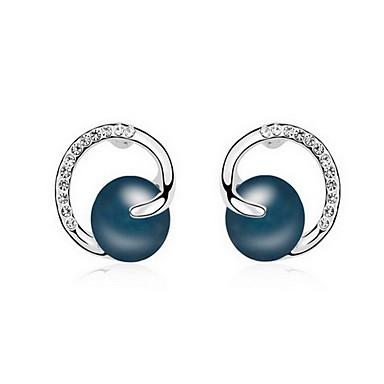 Damskie Kolczyki na sztyft Perła Natura Modny Perłowy Imitacja pereł Szara perła Złota Perła Czarna Perła Stop Biżuteria Biżuteria Na
