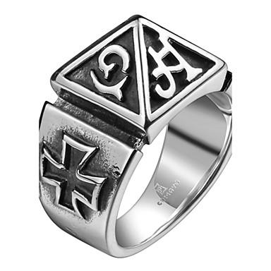 خاتم برونز الصلب التيتانيوم صليب يوميا فضفاض مجوهرات
