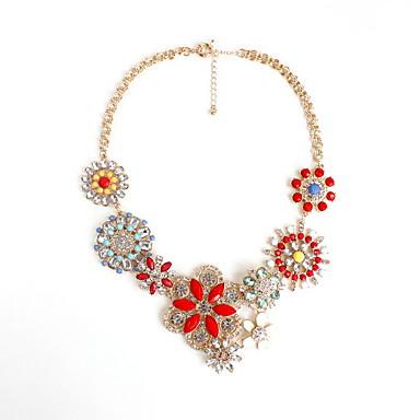 Dame Coliere Choker Bijuterii Bijuterii Piatră Preţioasă Aliaj La modă Personalizat Euramerican bijuterii de lux European Floral Bijuterii