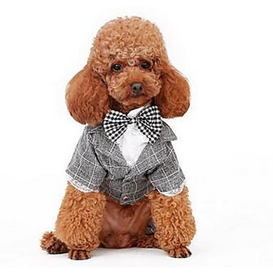 كلب المعاطف ملابس الكلاب كاجوال/يومي الرياضات صلب رمادي زهري كوستيوم للحيوانات الأليفة