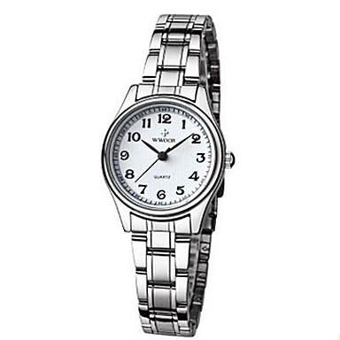 WWOOR Kadın's Elbise Saat / Bilek Saati Takvim Alaşım Bant Vintage Gümüş
