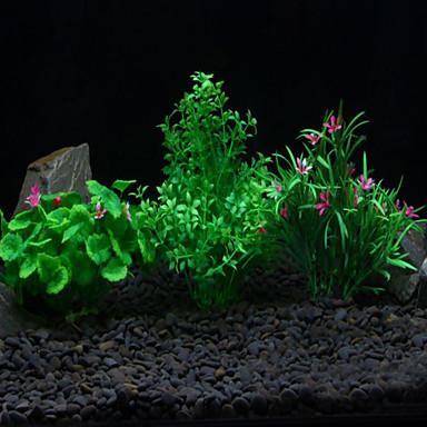 ديكور حوض السمك نبات مائي غير سام و بدون طعم بلاستيك
