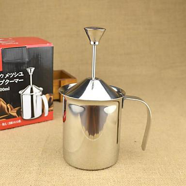 400 ml Stal nierdzewna Spieniacz do mleka , latte Art Producent Wielokrotnego użytku Ręczny