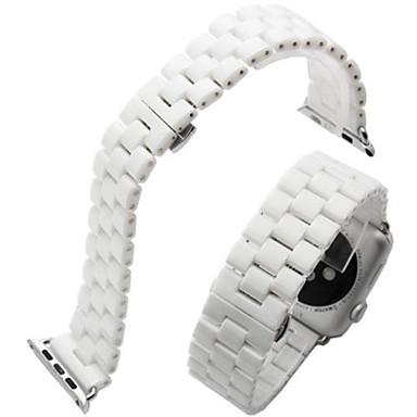 حزام إلى Apple Watch Series 3 / 2 / 1 Apple فراشة مشبك معدني ل خزفي شريط المعصم