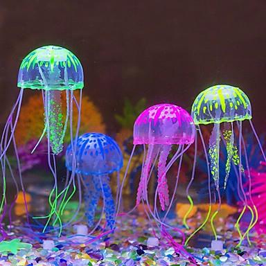 Akvaario Sisustus Meduusa Keinotekoinen Itsestään valaiseva pimeässä Silikoni