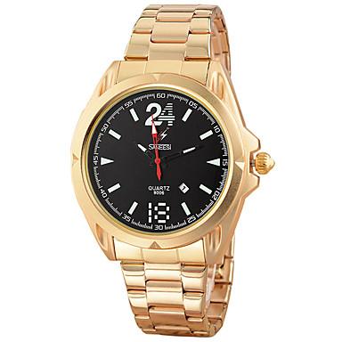 Męskie Modny Zegarek na nadgarstek Kwarcowy Kalendarz Stop Pasmo Nowoczesne Na co dzień Kreatywne Czarny Srebro Złoty Różowe złoto