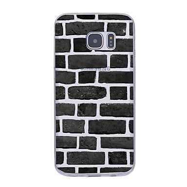 Pouzdro Uyumluluk Samsung Galaxy S7 edge S7 Ultra İnce Temalı Arka Kapak Geometrik Desenli Yumuşak TPU için S7 edge S7 S6 edge plus S6