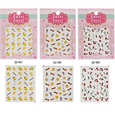3 Nail Art Samoprzylepna Folie transferowe Woda Kosmetyki do makijażu Nail Art Design