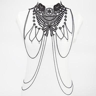 Biżuteria Łańcuch nadwozia / Belly Chain biżuteria kostiumowa Modny Bohemia Style Koronka Stop Flower Shape Biżuteria Na Impreza