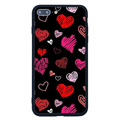 tok Για Apple Με σχέδια Πίσω Κάλυμμα Καρδιά Σκληρή Ακρυλικό για iPhone 7 Plus iPhone 7 iPhone 6s Plus iPhone 6 Plus iPhone 6s iPhone 6