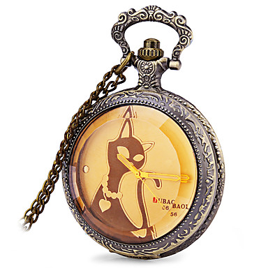 JUBAOLI Ανδρικά Ρολόι Τσέπης Καθημερινό Ρολόι Χαλαζίας / κράμα Μπάντα Καθημερινό Μπρονζέ