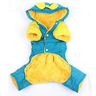 Köpek Paltolar Köpek Giyimi Sevimli Günlük/Sade Tek Renk Sarı Kırmzı Mavi