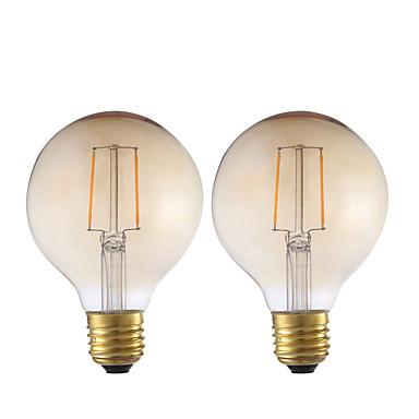 GMY® 2pcs 2W 180lm E26 / E27 مصابيحLED G80 2 الخرز LED COB ديكور خمري 220-240V