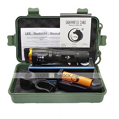 U'King Lanterne LED LED 2000 lm 5 Mod Cree XM-L T6 Cu Baterie și Încărcător Zoomable Focalizare Ajustabilă Camping/Cățărare/Speologie